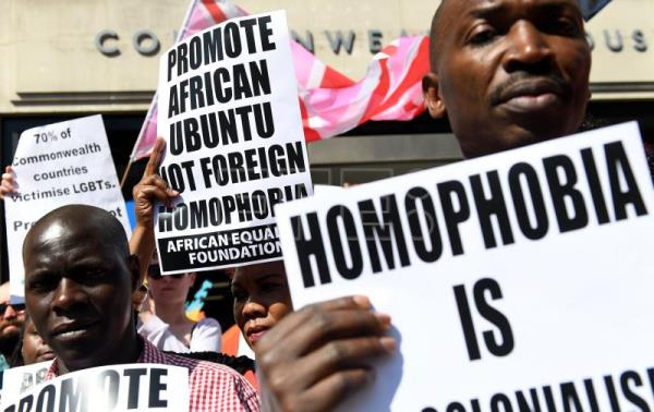 LGBT activists in London denounce homophobia in Commonwealth countries