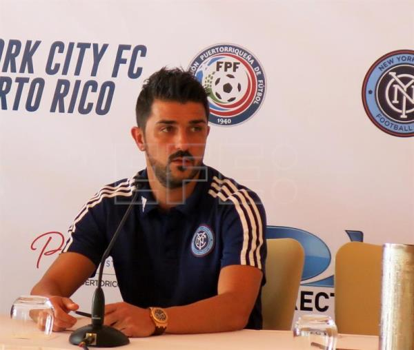 David Villa, jugador del New York CIty. EFE/Archivo
