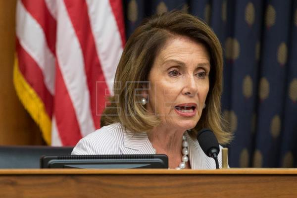 US House Minority Leader Democrat Nancy Pelosi expresses her condolences for the loss of late Nobel Peace Prize laureate Liu Xiaobo, during the House Foreign Affairs subcommittee hearing entitled 'The Tragic Case of Liu Xiaobo', on Capitol Hill in Washington, DC, USA, 14 July 2017. EPA-EFE FILE/MICHAEL REYNOLDS
