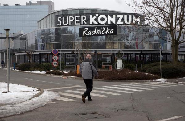 Archive image shows a general exterior view of the Konzum Supermarket in downtown Zagreb, Croatia, January 24, 2017. Konzum is Croatia's biggest retail chain and a member of Agrokor group, EPA/ANTONIO BAT