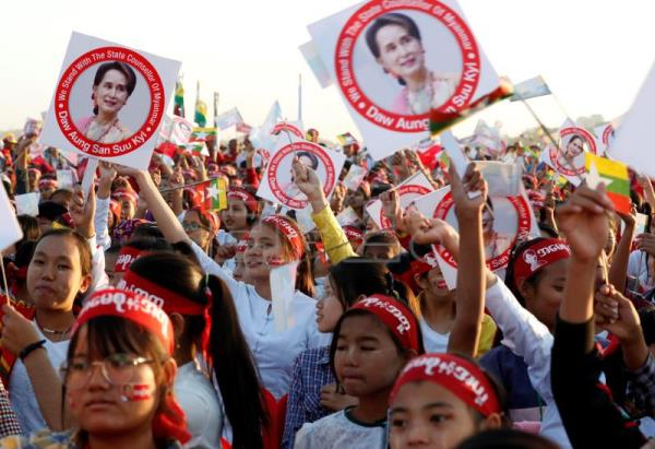 Rally in support of Suu Kyi in Mandalay as Myanmar ICJ trial underway
