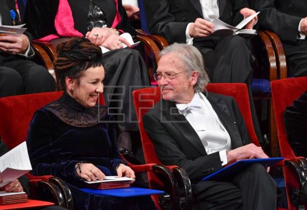 Controversy at Nobel ceremony over literature winner Peter Handke