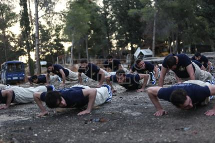 The Syrian rebel military academy putting new recruits through their paces