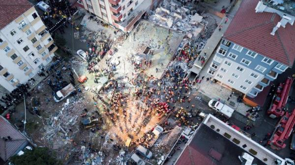 1 Killed Several Trapped In Turkey 8 Storey Building Collapses In