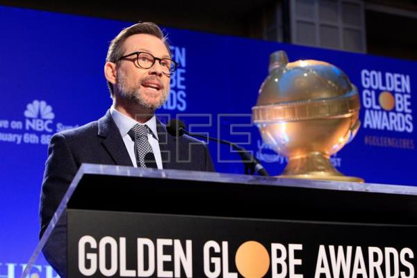 American actor Christian Slater at the 76th edition of the Golden Globes nomination announcement  in Beverly Hills, California, Dec. 6, 2018. EPA- EFE/ Nina Prommer