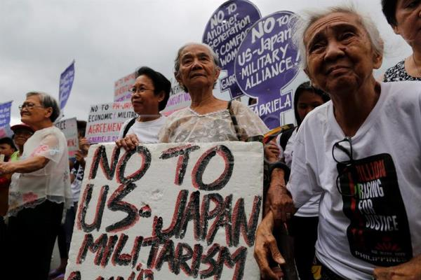 Filipina comfort women call for justice amid visit by