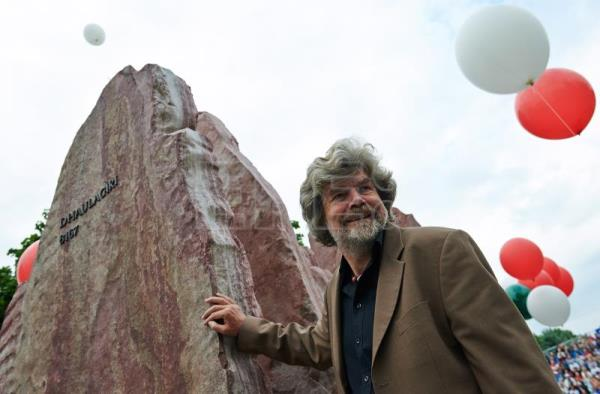 Italian mountaineer Reinhold Messner participates in the unveiling of a monument 'Crown of the Himalayas' at the Avenue of Stars Sports in Wladyslawowo, Poland, June 28, 2014 (reissued May 16, 2018). EPA/FILE/ADAM WARZAWA POLAND OUT
