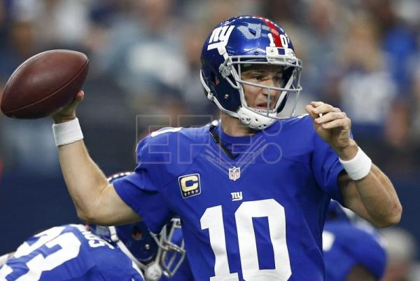 Giants descarta a Jones y tendrá como titular a Manning