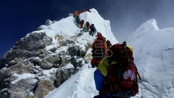Everest sees record footfall, jam as more than 200 climbers reach