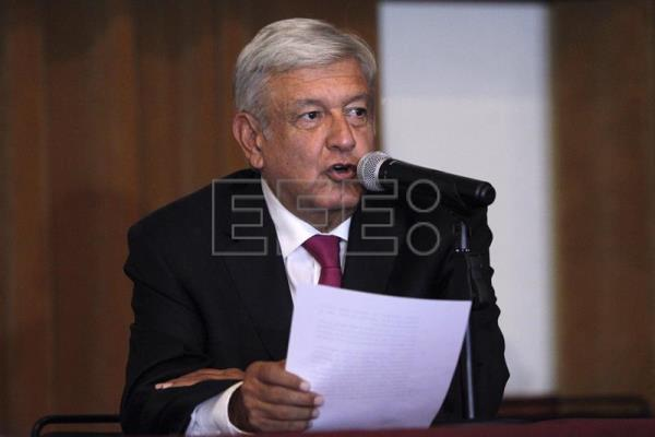 Mexican President-elect Andres Manuel Lopez Obrador speaks during a press conference in Mexico City on Wednesday, July 11.  EFE-EPA/SASHENKA GUTIERREZ