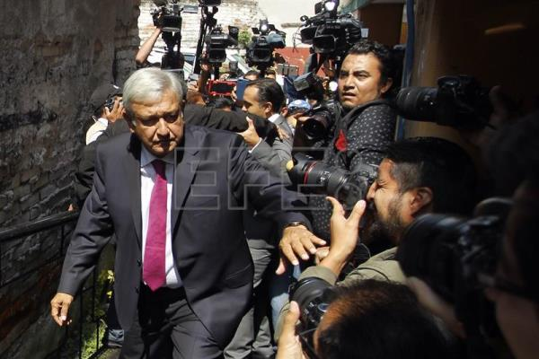 Mexican President-elect Andres Manuel Lopez Obrador arrives at his transition office in Mexico City on Wednesday, July 11. EFE-EPA/Sashenka Gutierrez