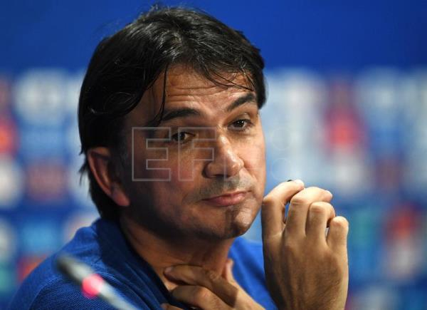 Croatia coach Dalic Zlatko addresses the media during a press conference at Luzhniki Stadium in Moscow, Russia, on July 11, 2018. EPA-EFE/FACUNDO ARRIZABALAGA