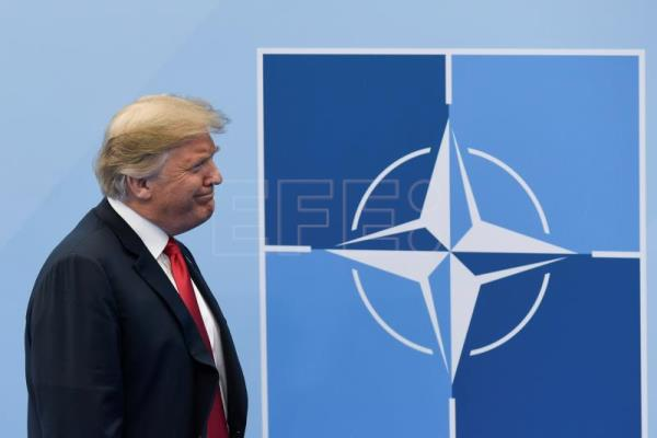 US President Donald J. Trump arrives for a NATO Summit in Brussels, Belgium July 11, 2018. NATO countries' heads of states and governments gather in Brussels for a two-day meeting. EFE- EPA/CHRISTIAN BRUNA