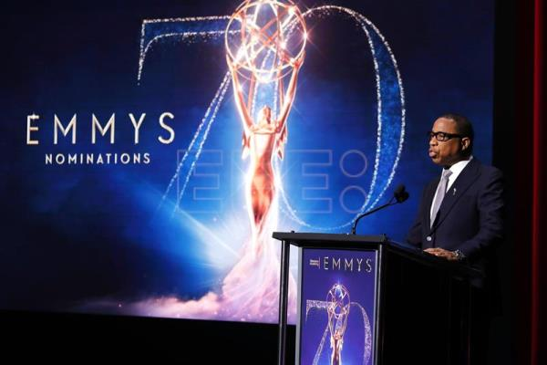 The chairman and CEO of the Academy of Television Arts & Sciences, Hayma Washington, takes part in a ceremony on 12 July 2018 in which the nominees in the 2018 edition of the Emmy Awards were announced. EPA-EFE/Mike Nelson