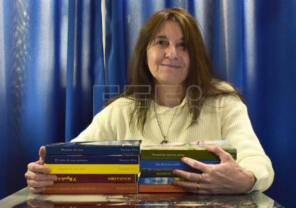 A photo provided by Argentine writer Susana Oro, one of her country's most prolific authors in the romance-novel genre. In an interview with EFE, she touted the advantages of self-publishing platforms, saying they allow for greater creative freedom and enable authors to establish their own rhythm of production. EFE
