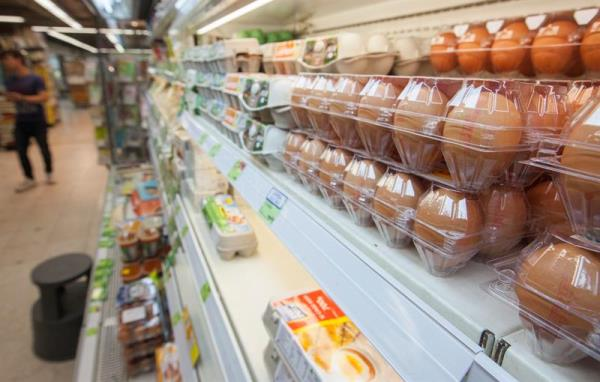 Eggs are seen for sale in a supermarket in Hong Kong, China, 12 August 2017. EFE